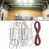 ROYFACC 60 LED Car Interior Light Bright White Lighting Dome Lamp Ceiling Work Lights Kit for Van Truck Auto Car Vehicle…
