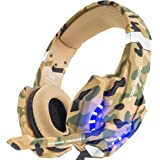 New Model Fashion Gaming Headset Game Headset Headphone Earphone BenGoo EACH G2000 Professional Noise Canelling 3.5mm PC Stereo Headband Gaming Headsets Gaming Headphone Earphones with MIC Volume LED Lights Voice Control Microphone HiFi Driver For Laptop Computer Skype Online Chatting-Blue Black