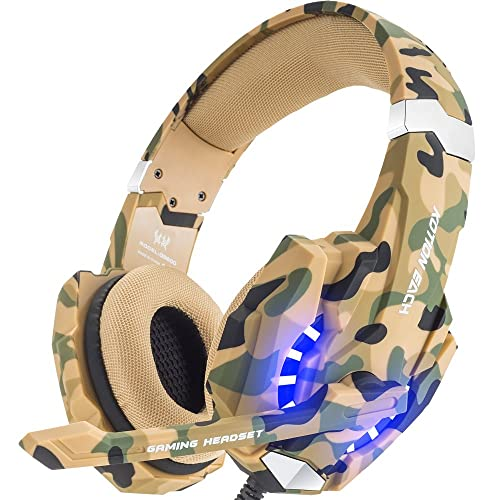 BENGOO Stereo Gaming Headset for PS4, PC, Xbox One Controller, Noise Cancelling Over Ear Headphones