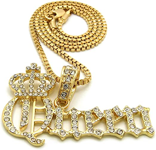 "Hip Hop Money Bag Tree Charm 20/""Cz Figaro /& Two 1 ROW Tennis Choker Chain 20/""18"
