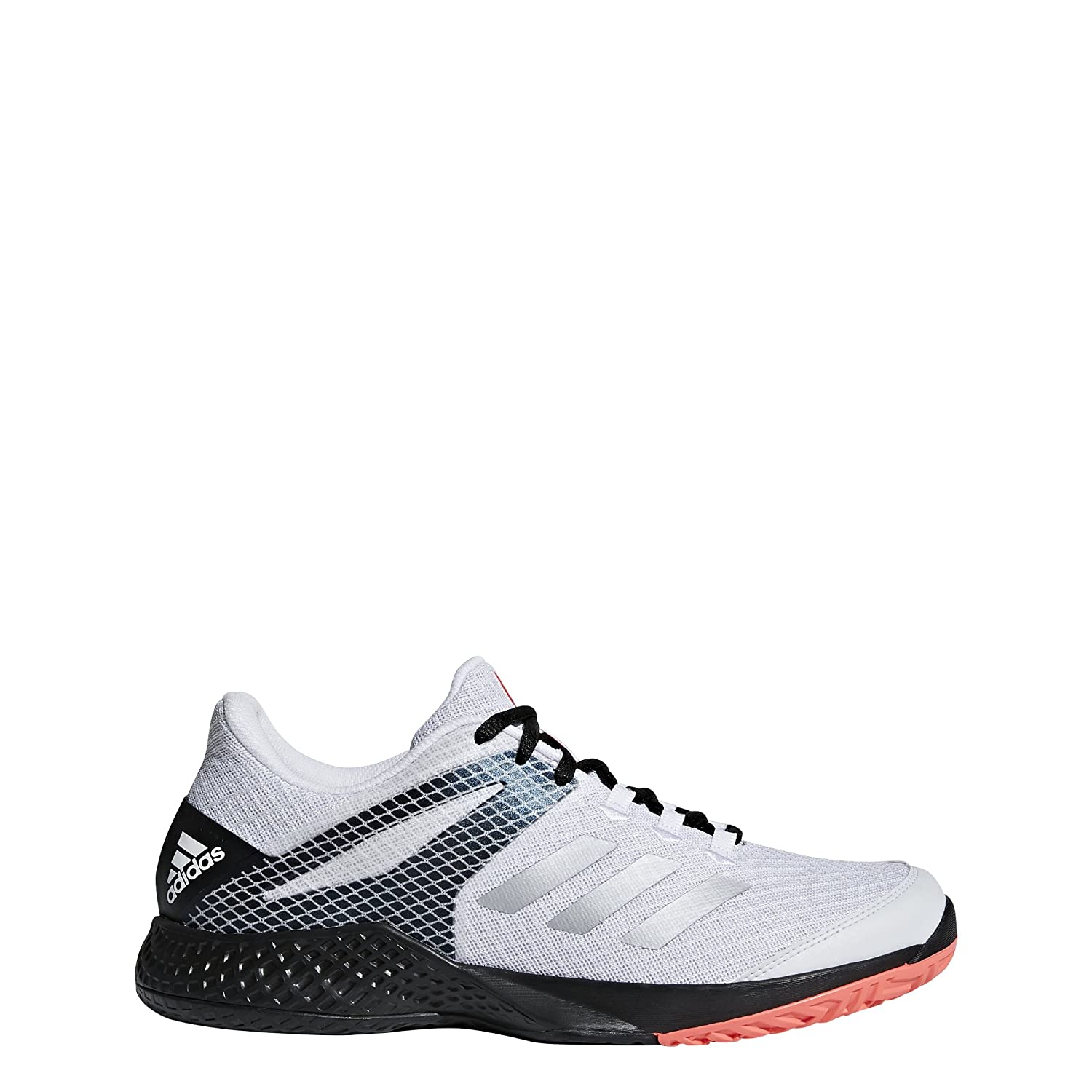 adidas Adizero Club 2 Men's Tennis B078PHC4G3 8 D(M) US|White/Matte Silver/Black
