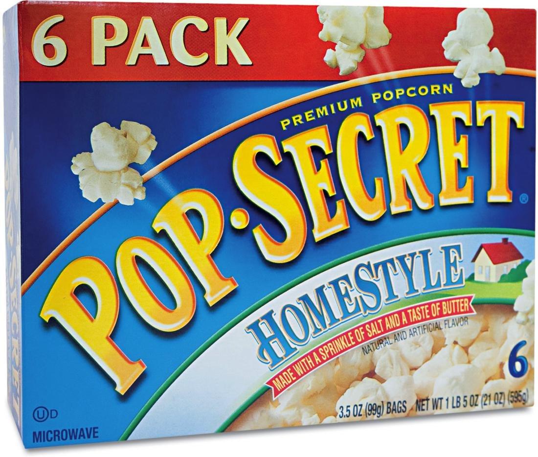 Pop Secret Homestyle 6 pk Microwave Popcorn 21 oz