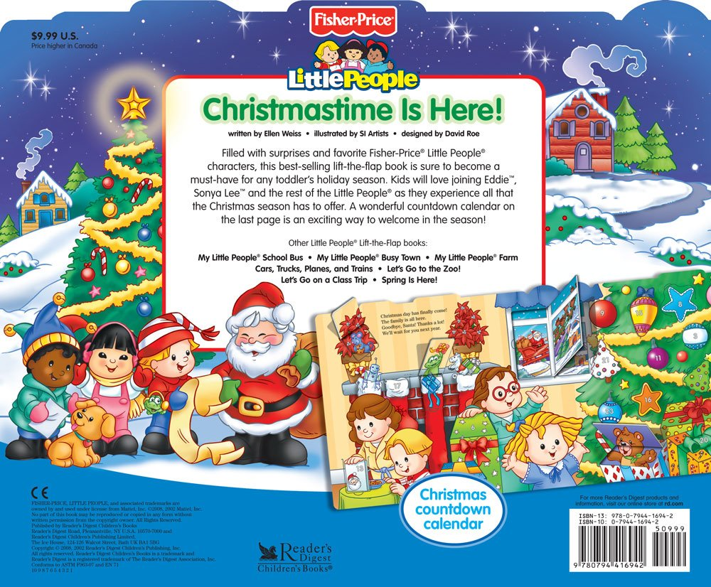 christmastime is here little people books ellen weiss