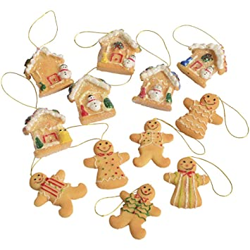 resin 1 14 gingerbread christmas ornaments - Gingerbread Christmas Ornaments
