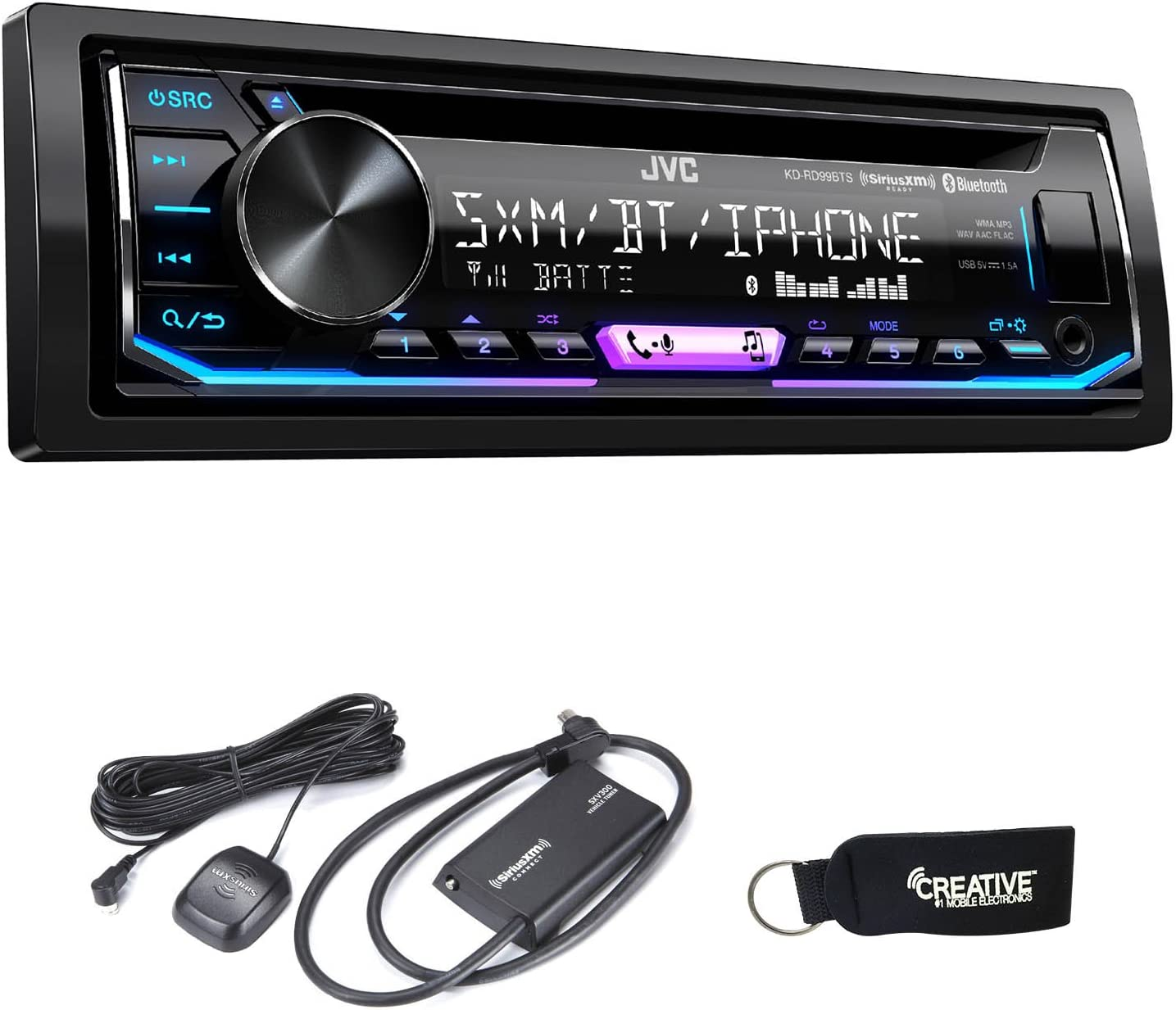USB//AUX JVC KD-RD99BTS CD Receiver w// Bluetooth SiriusXM Ready and Remote App