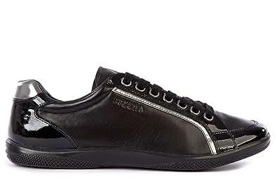 596cf049561f Prada Herrenschuhe Herren Leder Schuhe Sneakers Schwarz EU 42.5 4E2439 OZ1  F0002