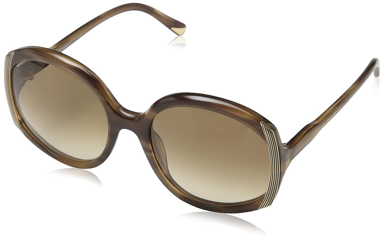 Nina Ricci Damen Sonnenbrille Snr050, Braun (Shiny Streaked Beige), Einheitsgröße