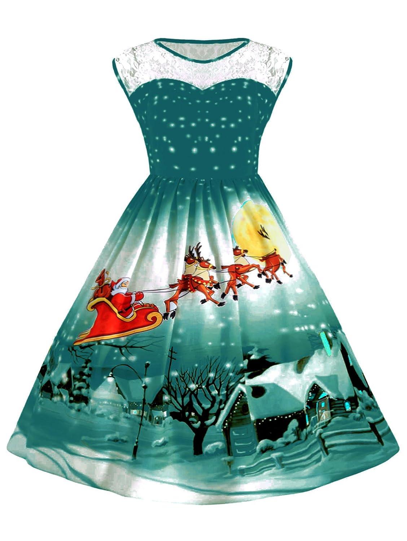 UNIFACO DRESS B0771L4LBY レディース Santa B0771L4LBY DRESS L|Green Santa Green Santa L, チキチキ電子:6091cf98 --- gateridge.com