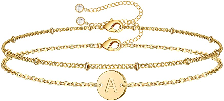 925 Silver Dainty Gold Name Bracelet,Mother/'s Day Gift 25/%Off Birthday Gift 14k Gold Dainty Gold Name Bracelet Name Bracelet 18k Gold