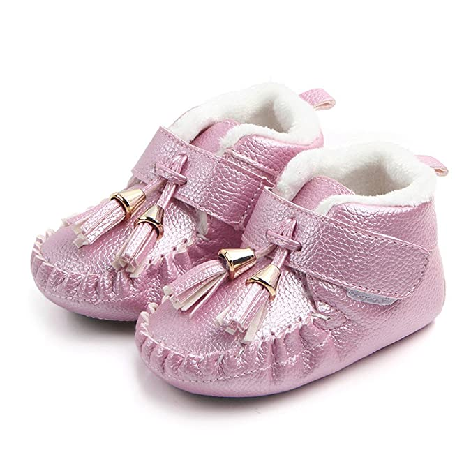 Newborn Girls Boys Shoes HEHEM Newborn Infant Baby Tassel Warm Sneaker Anti-Slip Soft Sole Toddler Shoes Toddler Boys Infant Boots Baby Walking Shoes Infant ...
