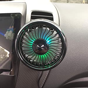 Air Vent Mounted USB Fan,V-Resourcing 2019 Newest Mini Electric Car Fan for Car Air Vent Mounted,360° Rotatable Car Auto Powerful Cooling Air Fan for Sedan SUV Auto Vehicles