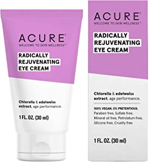 product image for ACURE Radically Rejuvenating Eye Cream | 100% Vegan | Provides Anti-Aging Support | Chlorella & Edelweiss Extract - Hydrates & Minimizes Fine Lines , Ivory 1 Fl Oz