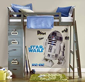 RoomMates Star Wars Classic R2-D2 Peel and Stick Giant Wall Decal