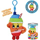 Whiffer Sniffers Rainbow Slushie Scented Plush Backpack Clip, 5""