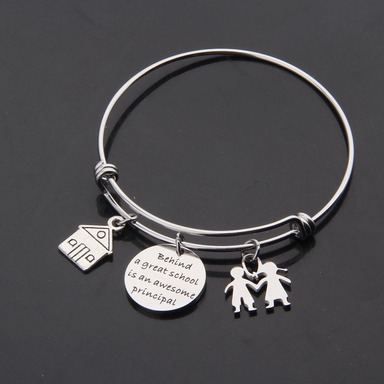 ENSIANTH Principal Gift School Principal Bracelet Assistant Principal Jewelry Retirement Gift for Principal Teacher