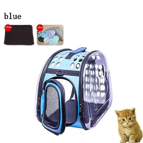 Paquete transparente para gatos Mochila para gatos Salir Mochila portátil para perros Bolsa portátil para gatos ...