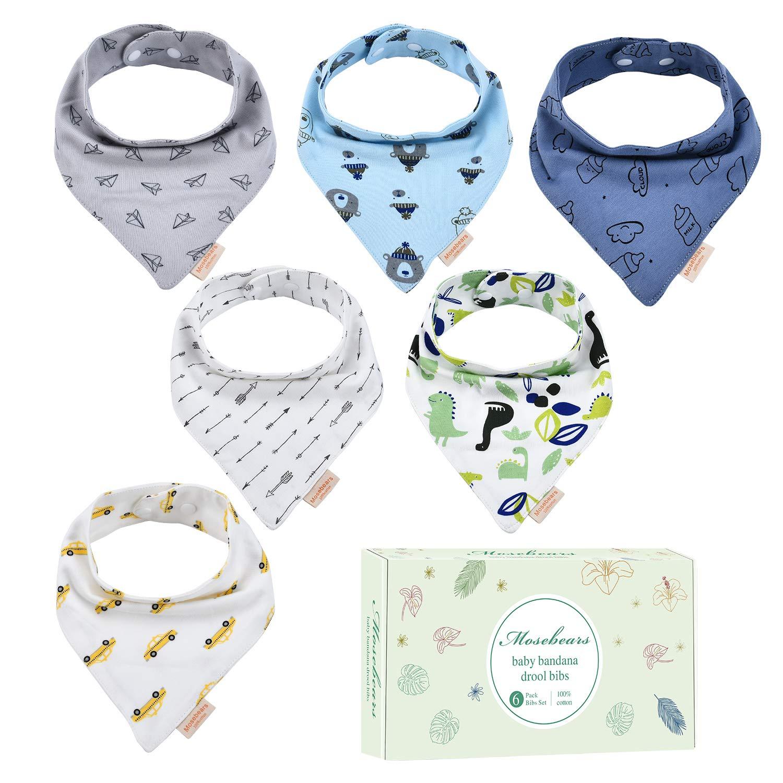100/% algod/ón con hebillas ajustables absorbentes Baberos bandana para beb/é suaves para beb/é