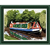Brigantia Needlework Canal Boat Tapestry Picture Kit in Tent Stitch
