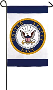 US Navy 70005 Patriotic Veteran Gift American Military Garden Flag, White