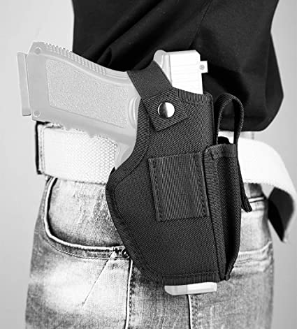 Details about  /Tactical Ambidextrous Concealed Carry IWB OWB Pistol Holster with Magazine Slot