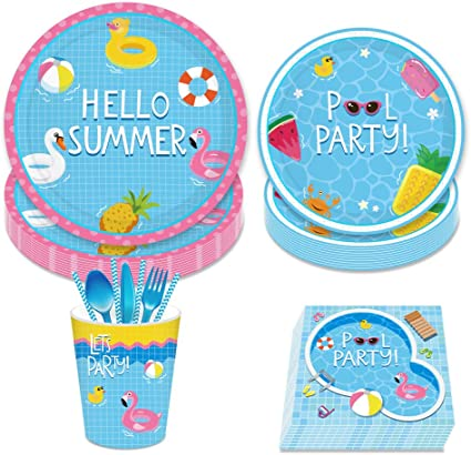 Baby Shower Party Supplies 113PCS Baby Shower Disposable Tableware with Baby Shower Plates Cups Napkins Tablecloth More Serves 16 for Baby Shower Birthday Party Decorations