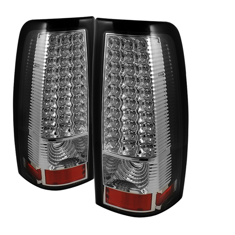 Spyder Auto Alt On Cs99 Led Sm Chevy Silverado 1500 2500 Tail Light Lamp Bulb Circuit Board W Bulbs Left Or Right Fits 0206 3500 And Gmc Sierra Smoke Automotive