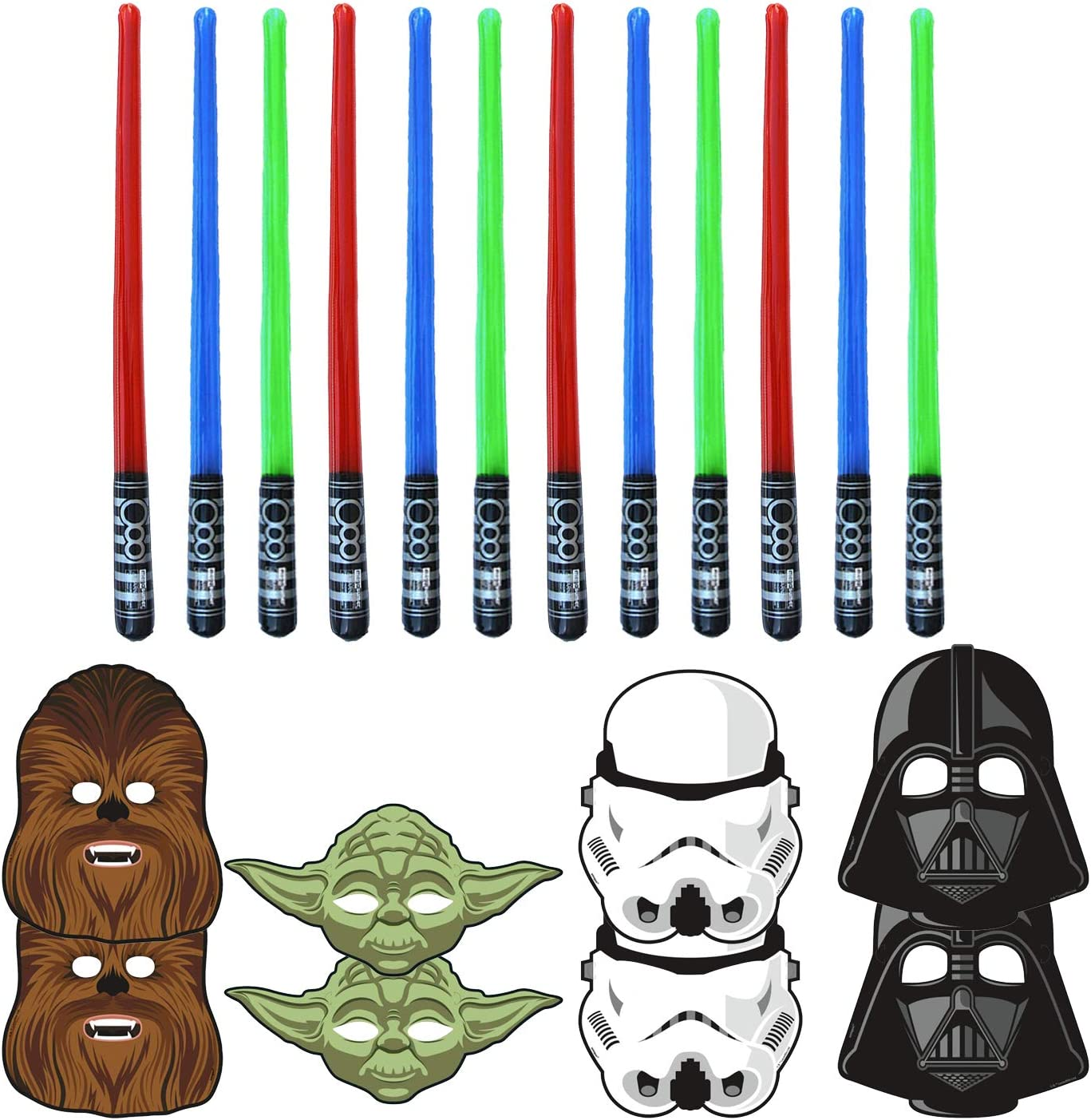 4 Assorted Mask Details about  /2 Pk Of Star Wars Party Masks 8ct // 16 Total