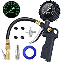 $22 » AstroAI Tire Inflator with Pressure Gauge, 100 PSI Air Chuck and Compressor Accessories Heavy…