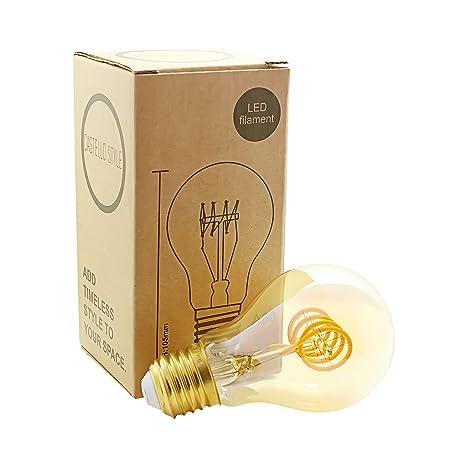 Castello Style - Bombilla LED de filamento tradicional de cuatro filamentos con rosca Edison - Brilla