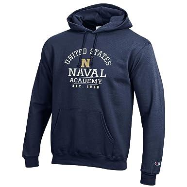 c1ee5592818 Bag2School United States US Naval Academy Champion NCAA Navy Midshipmen Hooded  Sweatshirt Hoodie (XL)