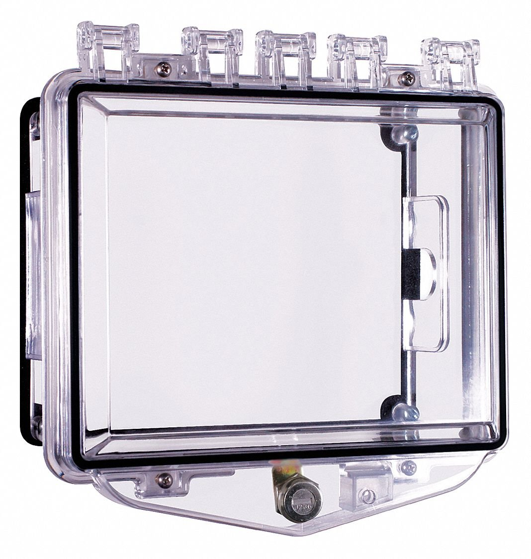 Enclosure,Open,Clear,Surface,Key Lock