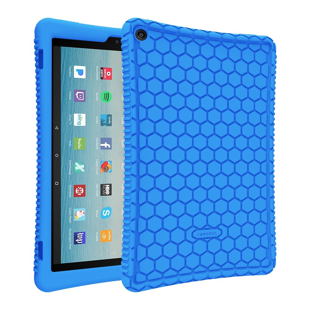 5e9bb97a655 Fintie Silicone Case for All-New Amazon Fire HD 10 Tablet (7th Generation