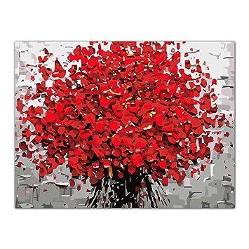 Blume öl Malen Nach Zahlen Acryl Zeichnen Auf Leinwand Diy