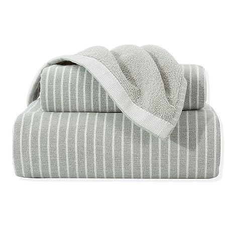 Feliz tierra 100% algodón muy absorbente toallas bordadas 3-Piece Set Hotel toalla de