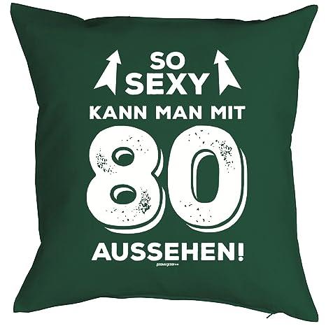 Cuscino Zum 80 Compleanno Cuscino Con Imbottitura Sexy Kann Man Con