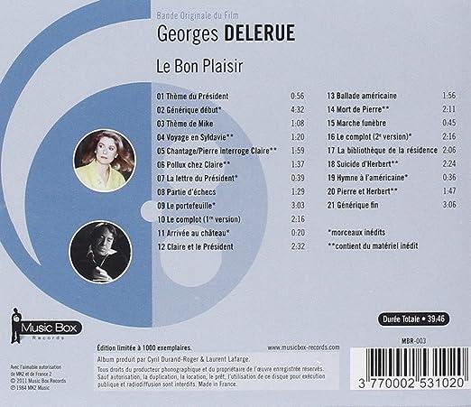 Georges Delerue Le Bon Plaisir Amazon Com Music