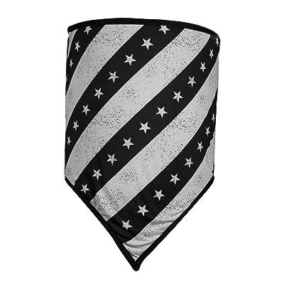 ZANheadgear Unisex-Adult Combo Gaiter, Cozy Fleece, Black & White (Black and White Flag, Multi): Automotive
