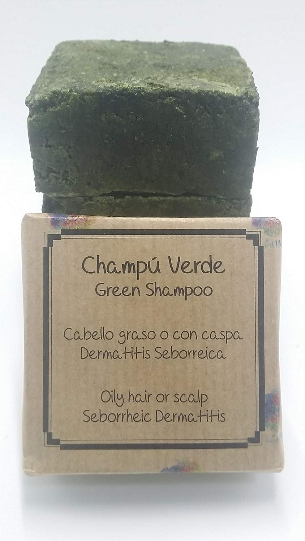 Champú sólido Verde - Cabello graso, dermatitis o con caspa - Apto para barba: Amazon.es: Belleza