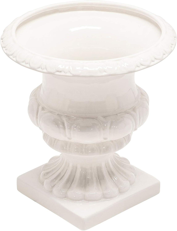 Sagebrook Home 13571-02 Ceramic Vase, 11 x 11 x 12, White