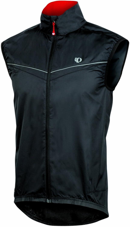 Black// Black, X-Large Pearl Izumi Mens Elite Barrier Vest