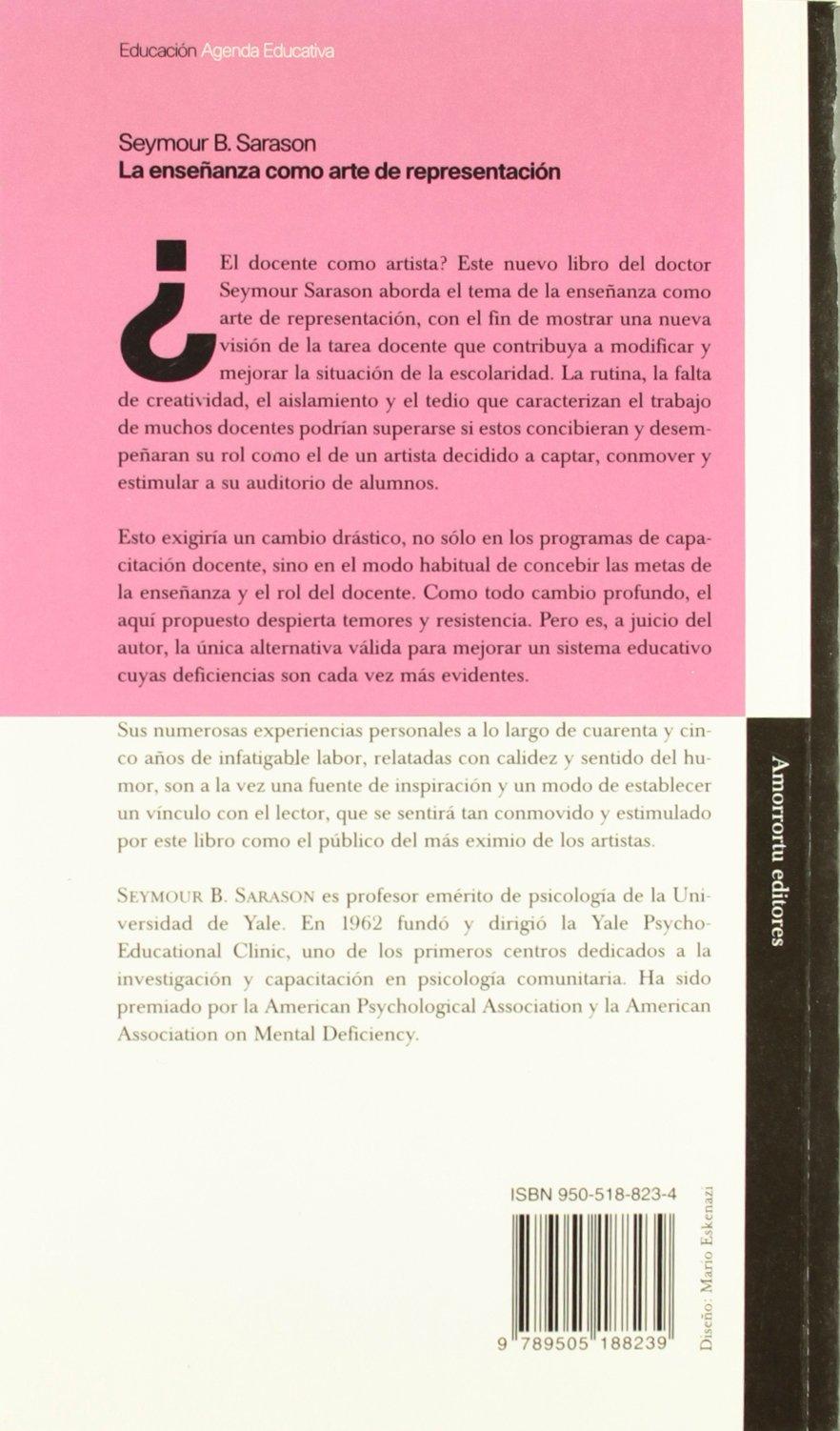 La Ensenanza Como Arte de Representacion (Spanish Edition ...