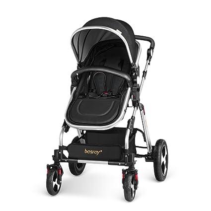 besrey Silla de Paseo Cochecito para Bebé Carrito Baby Jogger Carriage Negro Aprobado prueba de seguridad