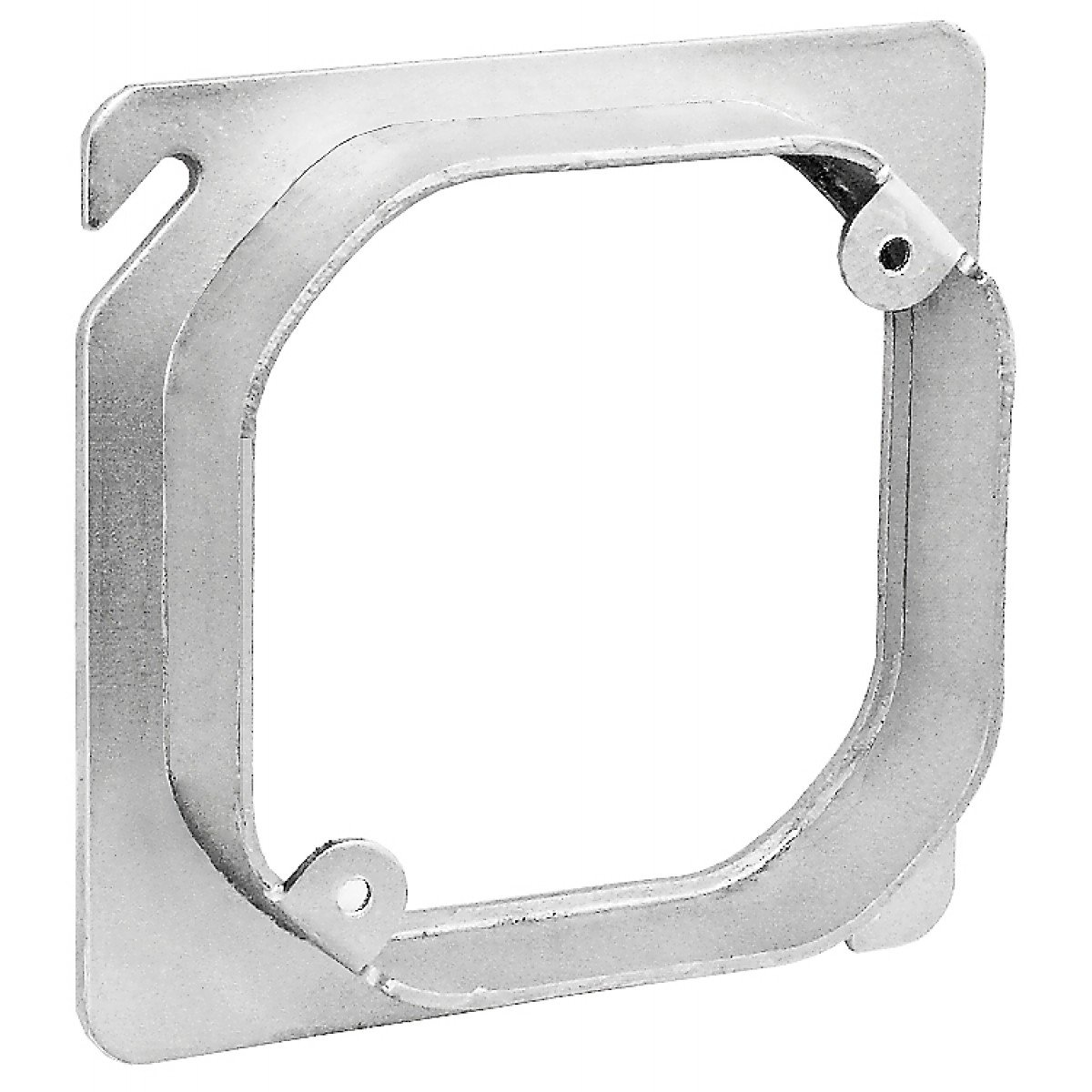 2 Pcs Raised For Lighting Retrofit Applications 5//8 In Zinc Plated Steel 4 Square to Octagon Device Ring