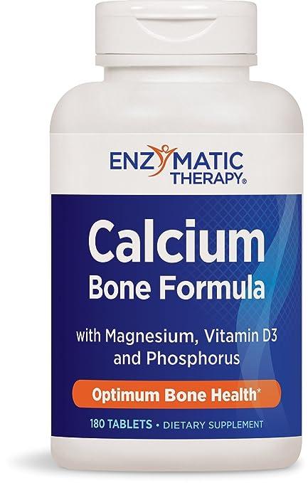 Calcio, magnesio, fósforo y vitamina D, 180 tabletas - terapia enzimática