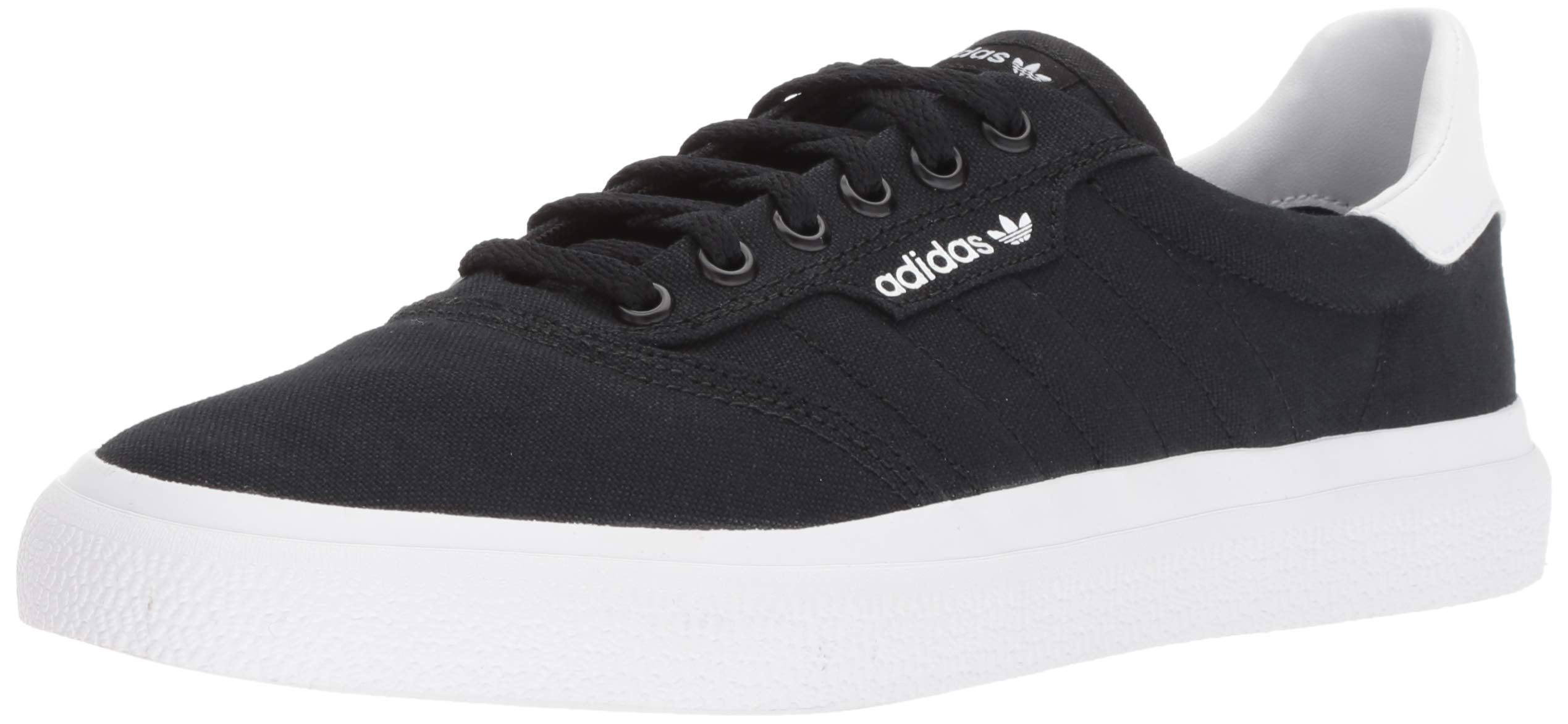 adidas Originals 3 MC Skate Shoe Black/White, 4 M US