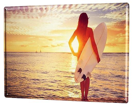 Cartel Letrero de Chapa Agencia De Viajes Vacaciones Surf de ...