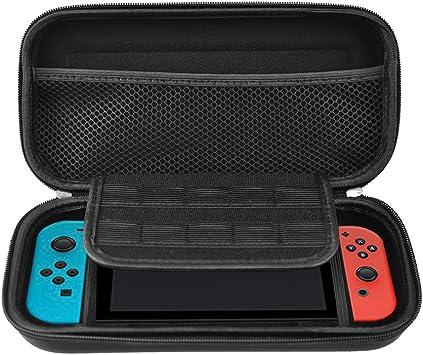 Webat Nintendo Switch Funda con 20 Cartuchos, Funda para Nintendo Switch Bolsa Protectora de Viaje con Funda Rígida para Consola y Accesorios con Interruptor Nintendo: Amazon.es: Electrónica