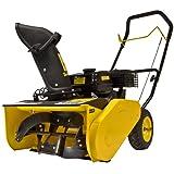 HAIGE 除雪機 家庭用 ミニ 小型 除雪機 除雪幅52cm 4馬力 163cc 4サイクル エンジン式 手押し式 HG-K405