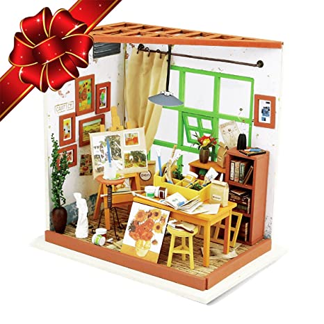 Amazon.com: CHRISTMAS SALE | Miniature Dollhouse DIY Kit with LED ...