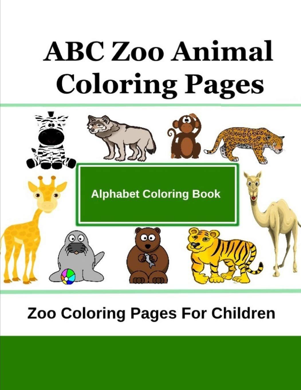 Crazy Zoo Animals Coloring Printable | full alphabet ... | 1360x1051